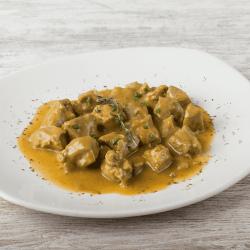 Pavo con salsa oriental