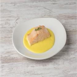 Lomos salmón a la naranja