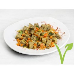 Salteado Seitán con Cebolla y Zanahoria
