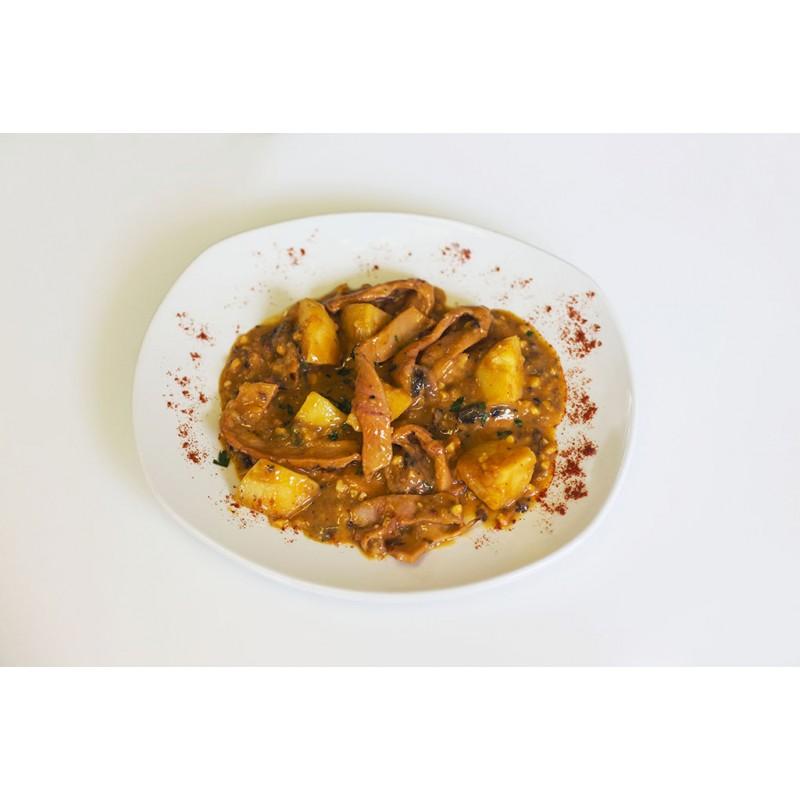 Ragut de Pulpo con salsa de Almendras