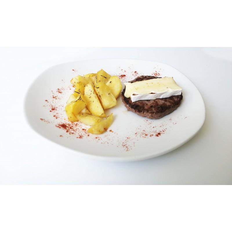 Hamburguesa BG con brie y patatas
